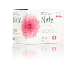 Naty Tampony Super plus (15 ks) - 100% z biobavlny