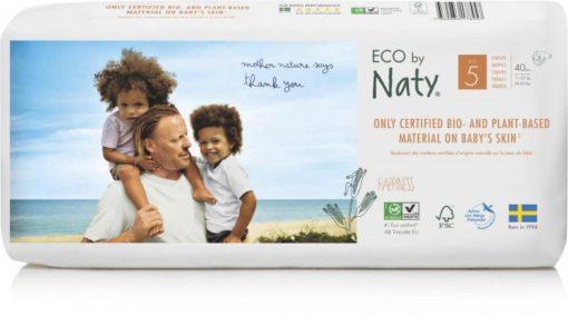 Naty Ekoplenky Junior 5 (11 - 25 kg) Economy pack (40 ks) - z 55-60 % rozložitelné