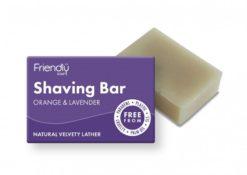 Friendly Soap Přírodní mýdlo na holení pomeranč a levandule (95 g)