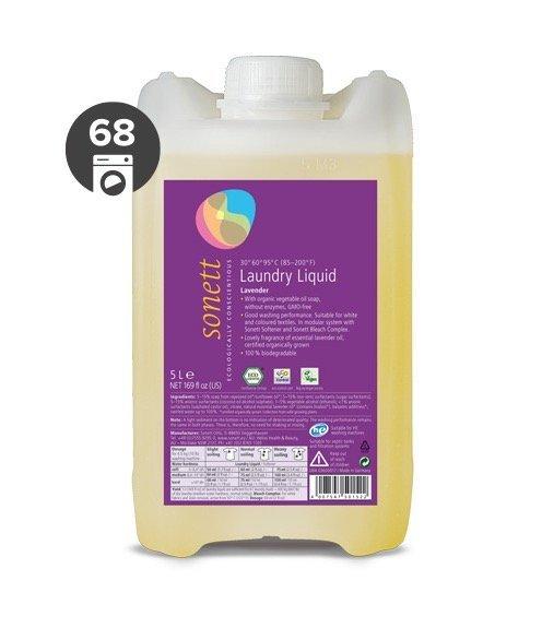 Sonett Univerzální tekutý prací gel na bílé i barevné prádlo BIO (5 l)