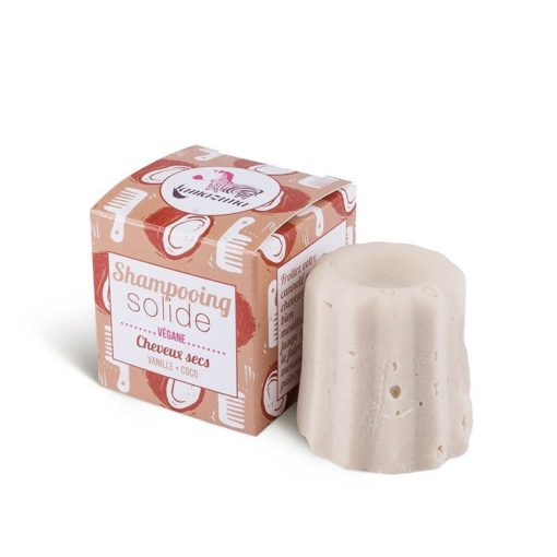 Lamazuna Tuhý šampon pro suché vlasy - vanilka a kokos (55 g) - šetří přírodu i peněženku