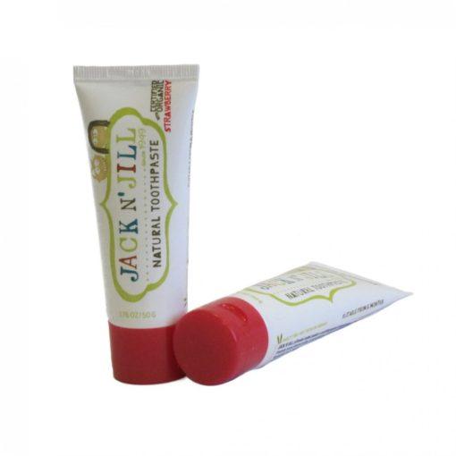 Jack n' Jill Dětská zubní pasta - jahoda BIO (50 g) - bez fluoru