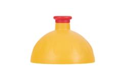 Zdravá lahev Komplet náhradní víčko - tmavě žlutá/červená - kompatibilní s jakoukoli zdravou lahví