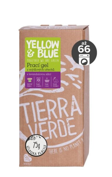 Yellow&Blue Prací gel s levandulí (2 l) - z bio mýdlových ořechů