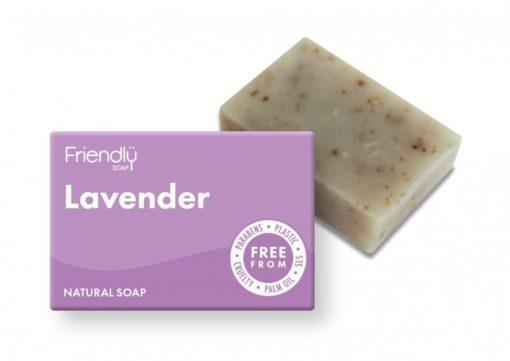 Friendly Soap Přírodní mýdlo levandule (95 g) - vhodné pro důkladnou očistu