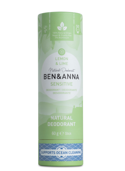 Ben & Anna Tuhý deodorant Sensitive BIO (60 g) - Citrón a limetka