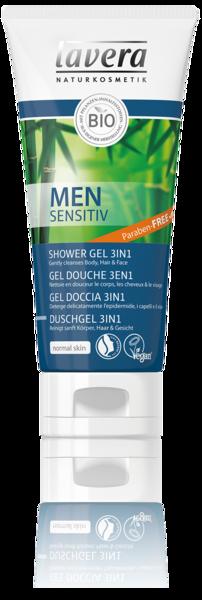 Lavera Sprchový gel a šampon pro muže Sensitive 3v1 BIO (200 ml)