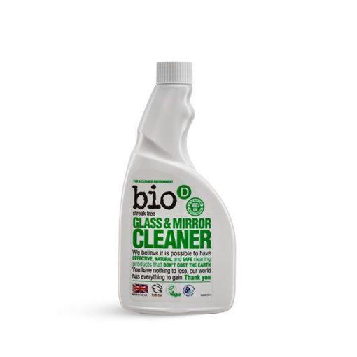 Bio-D Čistič na sklo a zrcadla (500 ml) - náhradní náplň - pro dokonale čistá okna a zrcadla