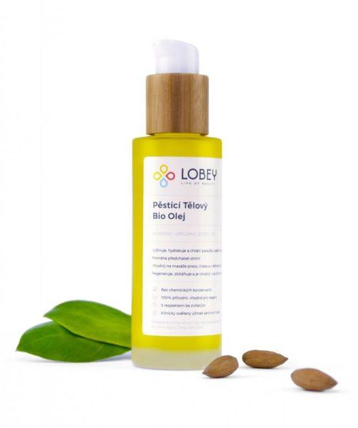 Lobey Pěstící tělový olej BIO (100 ml) - vhodný i k masáži strií