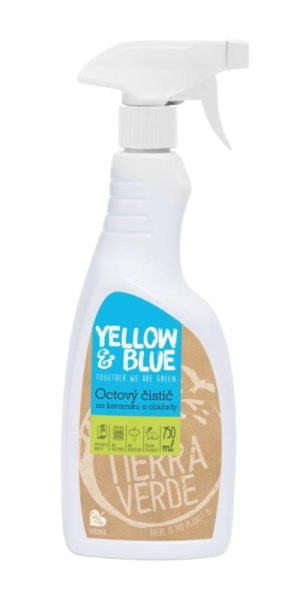 Yellow&Blue Octový čistič ve spreji (750 ml) - na sklo