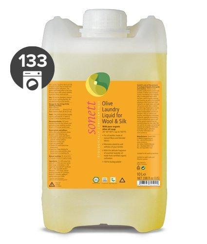 Sonett Olivový prací gel na vlnu a hedvábí (10 l) - s levandulovým éterickým olejem
