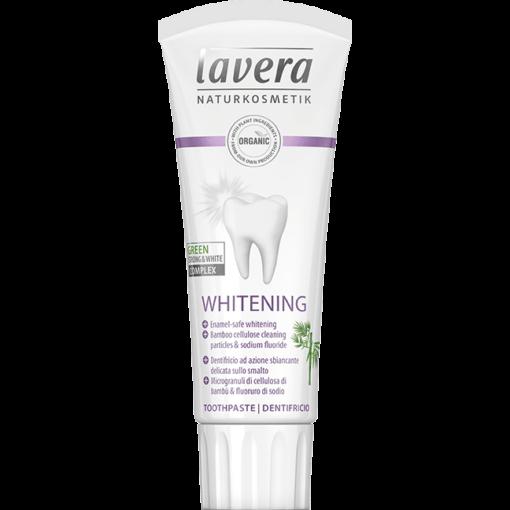 Lavera Bělící zubní pasta s fluorem BIO (75 ml) - s osvěžující mátovou příchutí