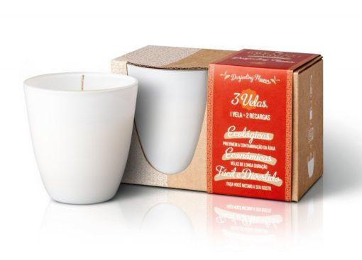 The Greatest Candle Sada - 1x svíčka (130 g) + 2x náplň - květ darjeelingu - doma si vyrobíte dvě další svíčky