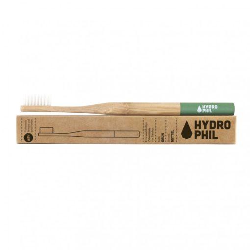 Hydrophil Bambusový kartáček (medium) - zelený - 100% z obnovitelných zdrojů