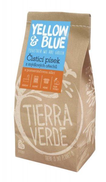 Yellow&Blue Čistící písek (sáček 1 kg) - s pomerančem