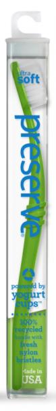 Preserve Zubní kartáček (medium) - zelený - z recyklovaných kelímků od jogurtů