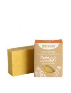 laSaponaria Tuhé olivové mýdlo BIO - Pomeranč a skořice (100 g)