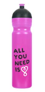 Zdravá lahev (1 l) - UAX All you need fialová - s vyměnitelnými díly